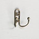 Крючок мебельный KM203AB, двухрожковый, цвет бронза