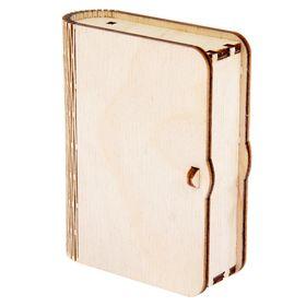 Шкатулка из фанеры для декора 'Книга №2' 5,5х7х2 см Ош