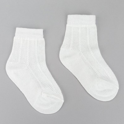 "Children's socks "", Economia"" R-R 12 (18-20) color: white, 80% C, 17% p/e, 3% El."