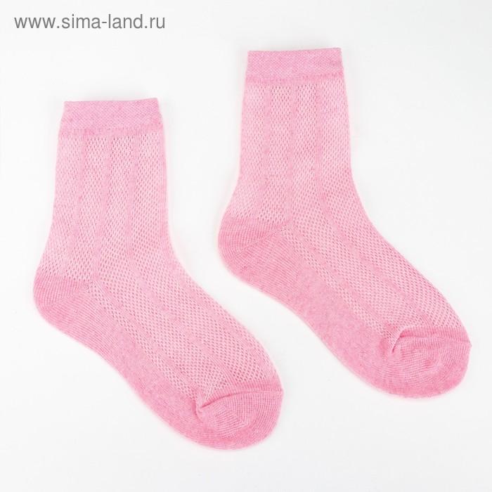 """Носки детские """"ЭкономьиЯ"""" р-р 12 (18-20) цвет розовый, 80% хл, 17% п/э, 3% эл."""