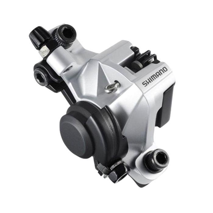 Калипер механический Shimano BR-M375, передний/задний, пластиковые колодки, цвет серый