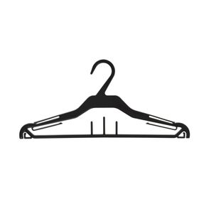 Вешалка для одежды 37*16,6, (фасовка 10 шт), цвет чёрный Ош