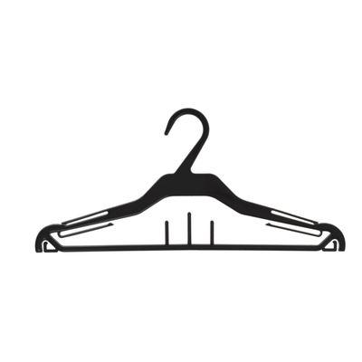 Вешалка для одежды 37*16,6, (фасовка 10 шт), цвет чёрный