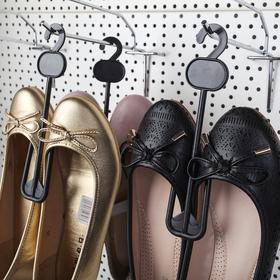 Вешалка для обуви L=19, (фасовка 10 шт), цвет чёрный Ош