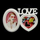 """Photo frame for 2 photos 10x10, 10x15 cm """"Love is a wonderful feeling"""" white 19х27х2,5 cm"""
