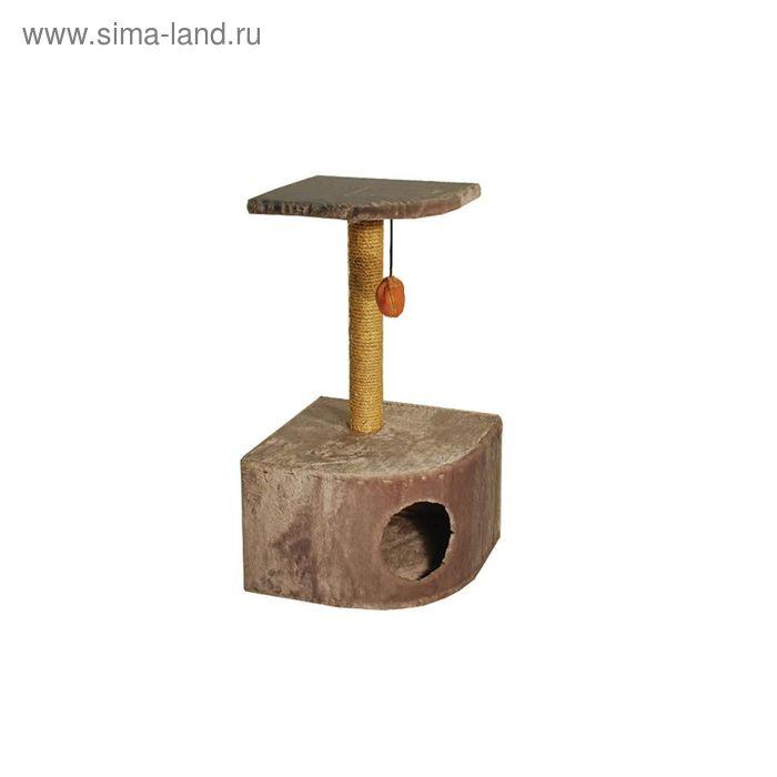 Домик RP для кошек, угловой с полкой , 43*44*80,5