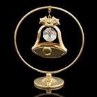 Сувенир «Колокольчик  в кольце», 3×7×8 см, с кристаллами Сваровски