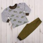 Пижама для мальчика, рост 98 см, цвет серый 41901_М