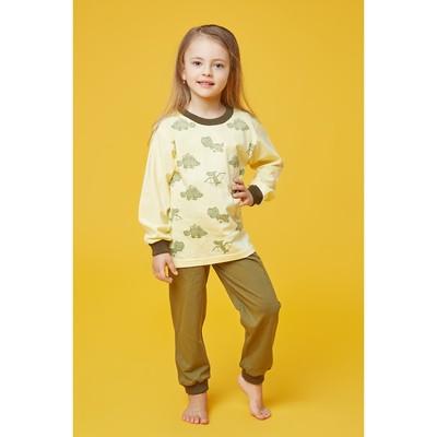 Пижама для девочки, рост 110 см, цвет жёлтый МИКС
