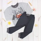 Пижама для мальчика, рост 110 см, цвет серый 41901