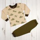 Пижама для мальчика, рост 122 см, цвет молочно-кофейный 41901