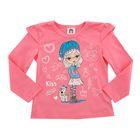 Джемпер для девочки, рост 110 см, цвет розовый 45001