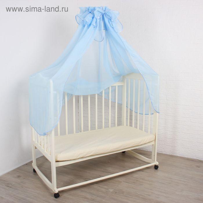 Балдахин, размер 150х300 см, цвет голубой 147