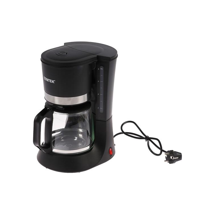Кофеварка Centek CT-1141, капельная, 1200 мл, 800 Вт, противокапельная система, черная