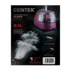 Отпариватель Centek CT-2379, напольный, 2200 Вт, 2500 мл, 40 г/мин, шнур 1.35 м, розовый - фото 897681