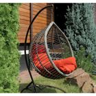 Подвесное плетеное кресло АКАПУЛЬКО на каркасе