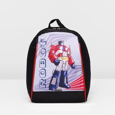 Рюкзак детский на молнии, 1 отдел, цвет чёрный/серый