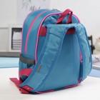 Рюкзак детский на молнии, 1 отдел, 3 наружных кармана, цвет голубой
