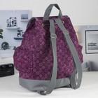 Рюкзак-торба на шнурке, 1 отдел, 3 наружных кармана, цвет фиолетовый