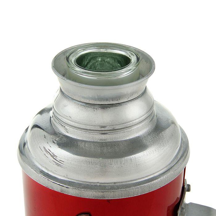 Термос 1200 мл «Букет полевых цветов», с ручкой, 1 кружка, красный