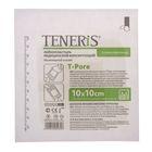 Лейкопластырь TENERIS T-Pore 10х10см фиксир. на нетканой основе с впитывающей подушкой из вискозы