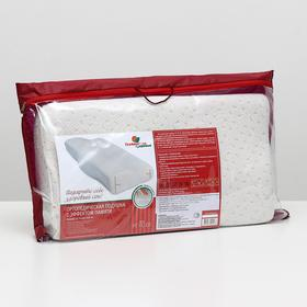 Подушка ортопедическая НТ-ПС-03, с эффектом памяти и выемкой под плечо, размер 61,5 x 34 x 13/8 см