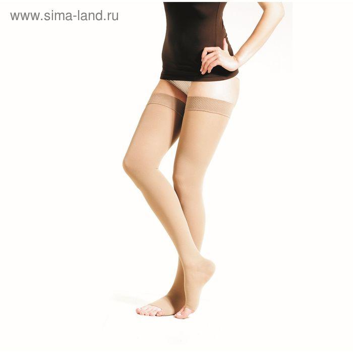 Чулки(отк носок) 2 класс компрессии, 30-40 mmHg, бежевый, размер: S