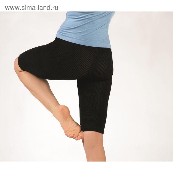 Леггинсы выше колена (шорты удлинённые антицеллюлитные FITNESS), размер: S (рост: 150-160 см, вес: д