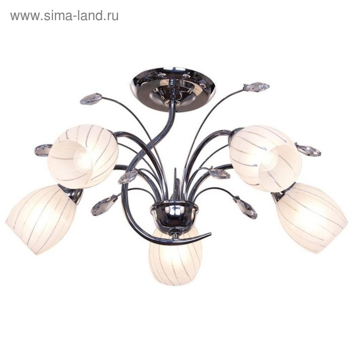 """Люстра """"Азимут"""" 5 ламп 40Вт Е14 хром"""