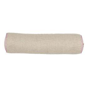 Подушка Валик 40х10 с лавандой и гречихой, лен