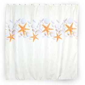 Штора для ванной комнаты Stars, тканевая, 180 х 180 см