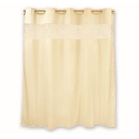 Штора для ванной комнаты тканевая 200x200 см Numkesh beige