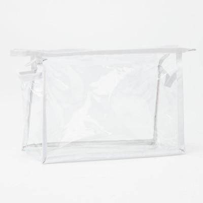Косметичка банная на молнии, 1 отдел, цвет белый