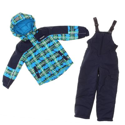 Комплект для мальчика (куртка, полукомбинезон), рост 98 см, цвет тёмно-синий S17443