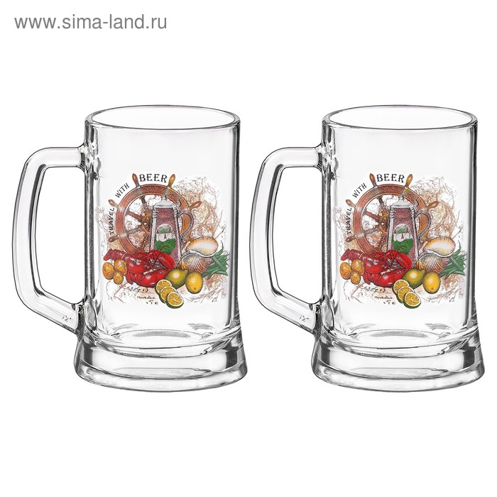Набор кружек для пива 500 мл Beer, 2 шт