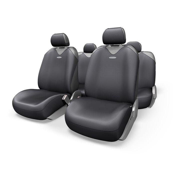Чехол-майка AUTOPROFI R-1 SPORT PLUS R-902P BK, закрытое сиденье, полиэстер, 9 предметов, цвет чёрный