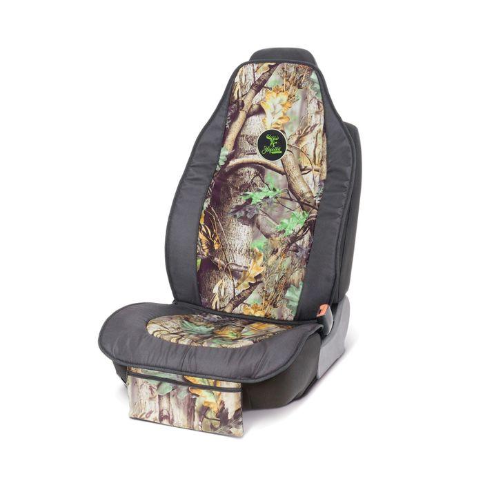 """Накидка на сиденье """"Зверобой"""" ZV/NAK-0110 S, брезентовая ткань, поролон 10 мм, расцветка """"летний камуфляж"""""""