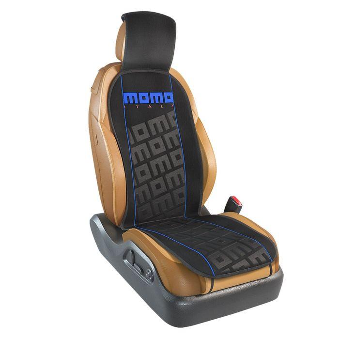 Накидка на переднее сиденье MOMO-102 BK/BL, серия TUNING, полиэстер, цвет чёрный/синий, 1 шт