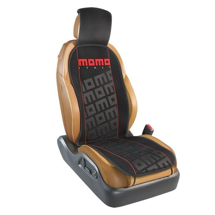 Накидка на переднее сиденье MOMO-102 BK/RD, серия TUNING, полиэстер цвет чёрный/красный, , 1 шт
