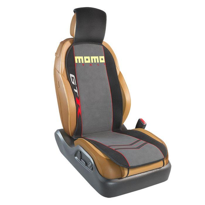 """Накидка на сиденье """"MOMO"""", серия GTR, полиэстер, на переднее сиденье, MOMO-103 BK/GY"""