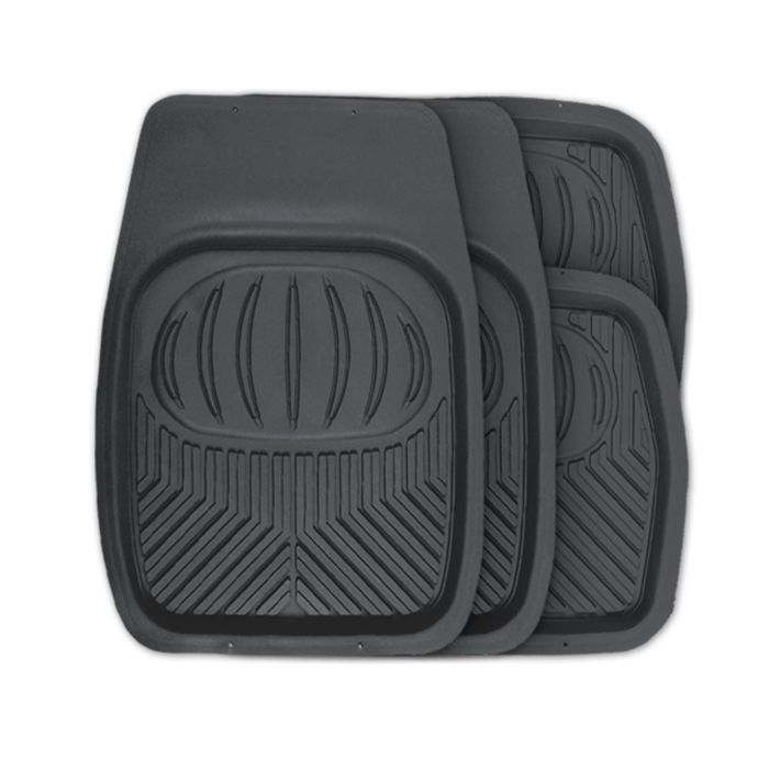 Коврики автомобильные AUTOPROFI POLAR TER-105 BK, универсальные, ванночки, 4 предмета, цвет чёрный
