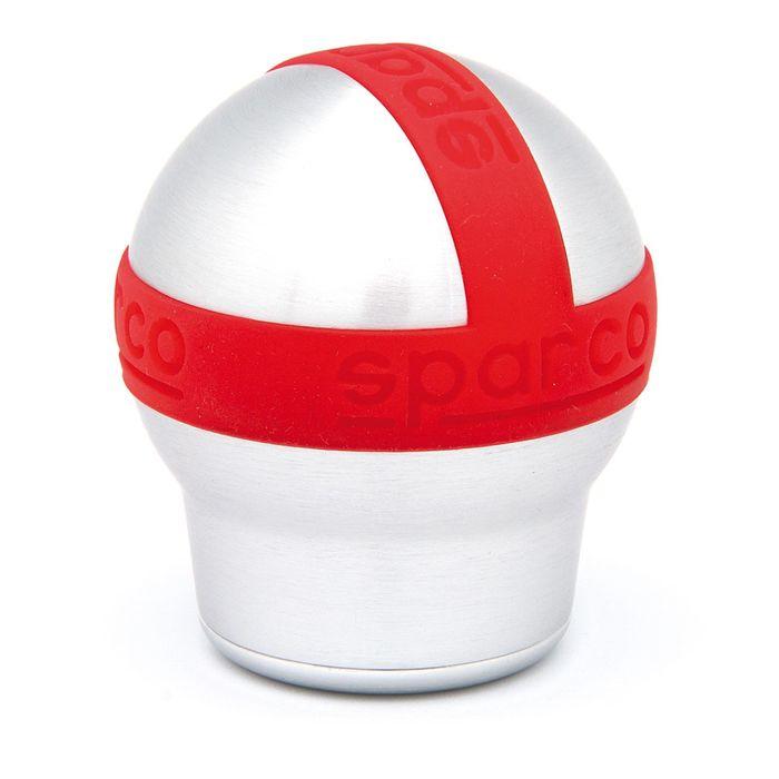 Рукоятка рычага КПП SPARCO, серия Urban, SPC/GN-URB AL/RD, алюминий + резина, цвет алюминиевый/красный