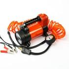 """Компрессор автомобильный """"Агрессор"""" AGR-50L, металлический, 12V, 280W, производительность 50 л/мин, переходники для накачки лодок, LED фонарь, сумка"""