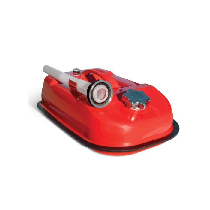 Канистра стальная AUTOPROFI KAN-500, горизонтальная, оцинкованная, горловина с навинчиваемой крышкой, перепускной клапан, лейка, 5 литров