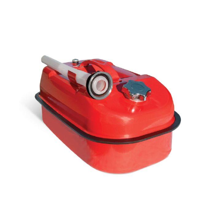 Канистра стальная AUTOPROFI KAN-500, горизонтальная, оцинкованная, горловина с навинчиваемой крышкой, перепускной клапан, лейка, 10 литров