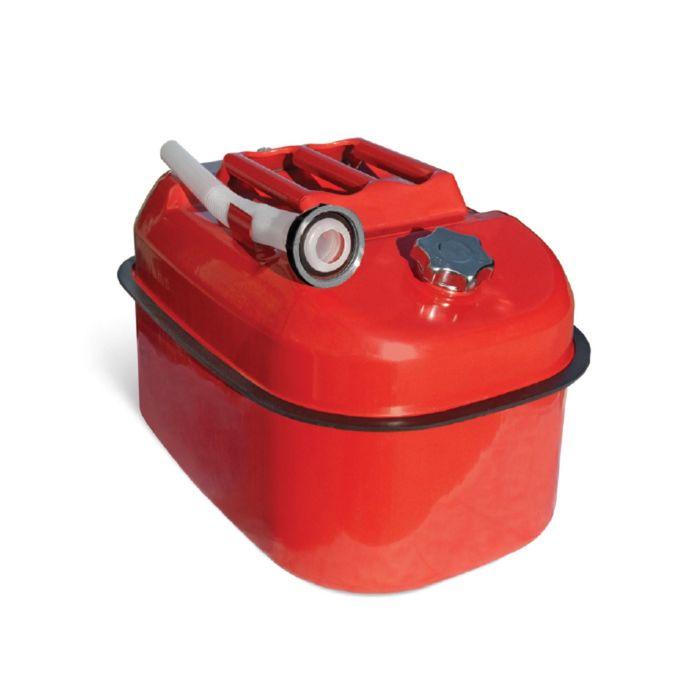 Канистра стальная AUTOPROFI KAN-500, горизонтальная, оцинкованная, горловина с навинчиваемой крышкой, перепускной клапан, лейка, 20 литров
