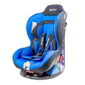 Детское кресло Sparco F5000K, группы 0+/1 (0-18 кг/0-4 года), велюр + вставки из полиэстера, цвет синий