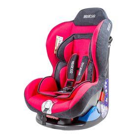 Детское кресло Sparco F5000K, группы 0+/1 (0-18 кг/0-4 года), велюр + вставки из полиэстера, цвет красный