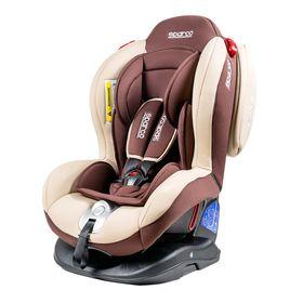 Детское кресло Sparco F2000K, группы 0+/1/2 (0-25 кг), велюр + вставки из полиэстера, цвет коричневый, (F2000K BR)