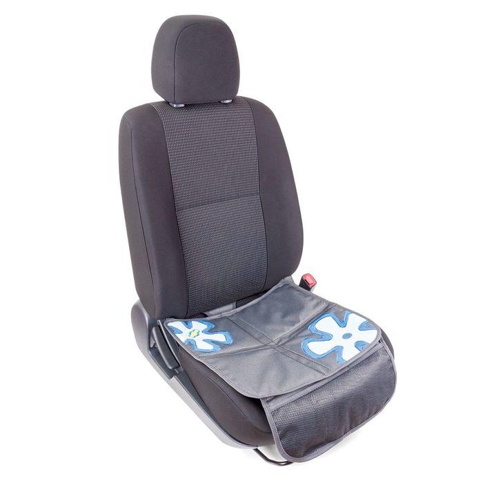 """Защитная накидка """"Смешарики"""", под детское кресло, на сиденье, цвет серый/синий, SM/COV-010 GY/BL"""